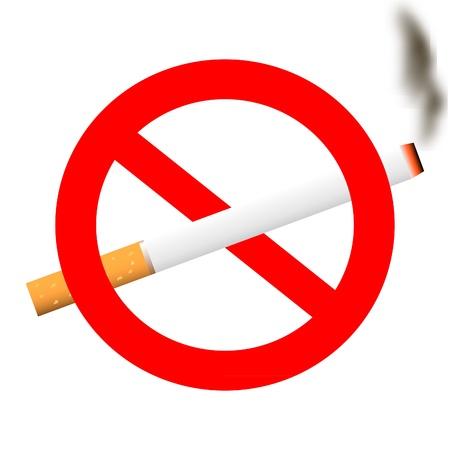 healthy habits: Ning�n signo de fumar - vector