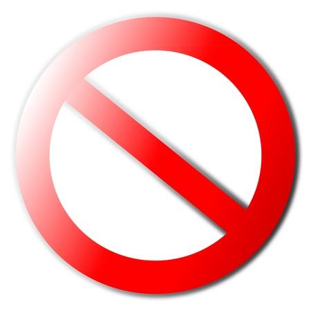 Niet toegestaan ??teken Stock Illustratie