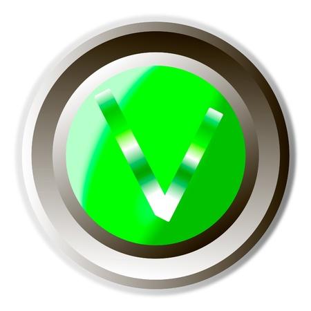 Validation button Stock Vector - 9777890