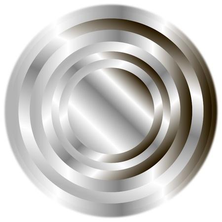 Steel button Stock Vector - 9777901