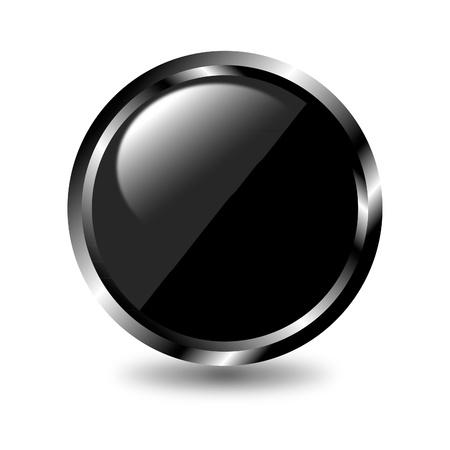 Zwarte web knop Stock Illustratie