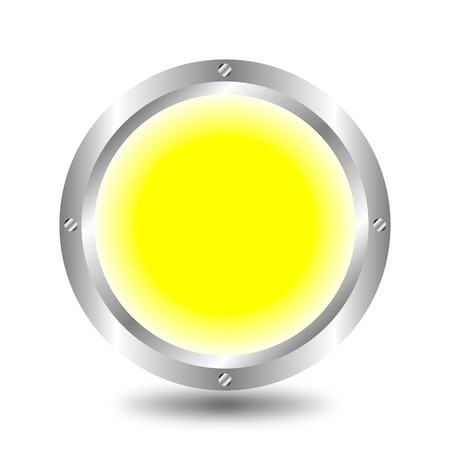 Yellow button Stock Vector - 9917219