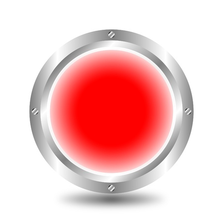 Red button Stock Vector - 9917218