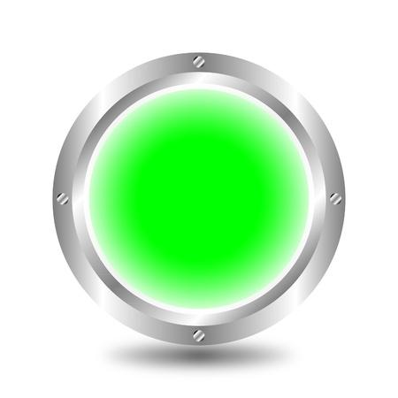Green button Stock Vector - 9917223