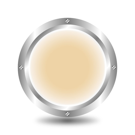 A large, metallic, light brown button Stock Vector - 9917221
