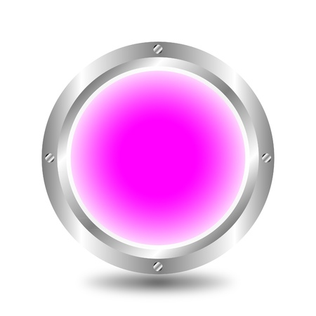 A large, metallic, pink button Stock Vector - 9917217