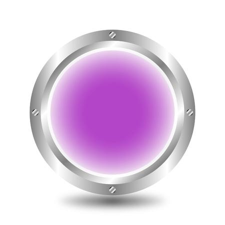 A large, metallic, purple button Stock Vector - 9917224