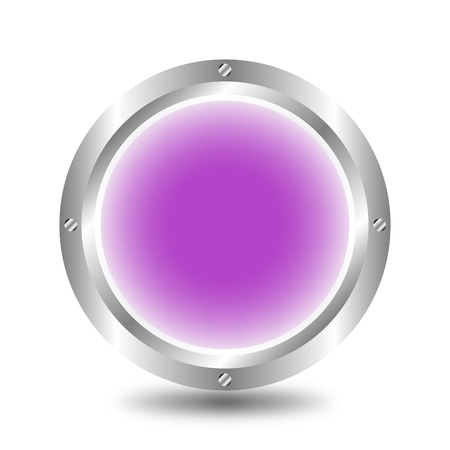A large, metallic, purple button Stock Vector - 9917224
