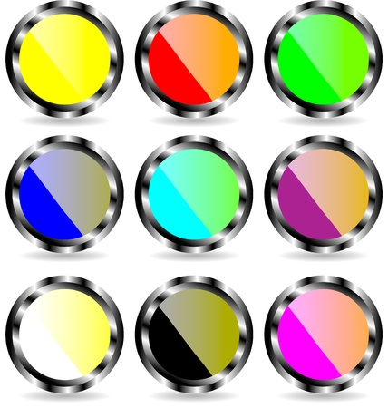 The set of web buttons Stock Vector - 9917274