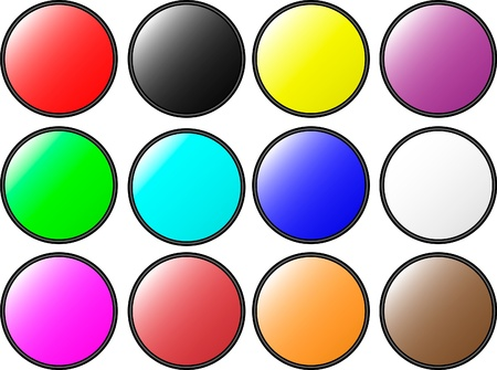 The set of web buttons Stock Vector - 9917281