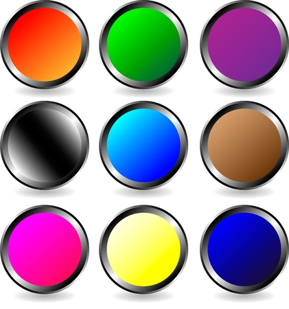 The set of web buttons on white background Stock Vector - 9917235