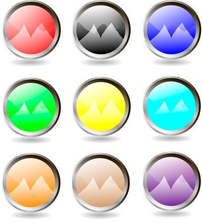 The set of web buttons Stock Vector - 9917275
