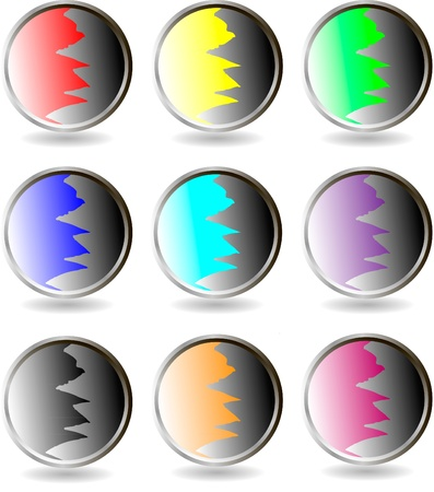 The set of web buttons Stock Vector - 9917263