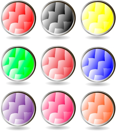 The set of web buttons Stock Vector - 9917265