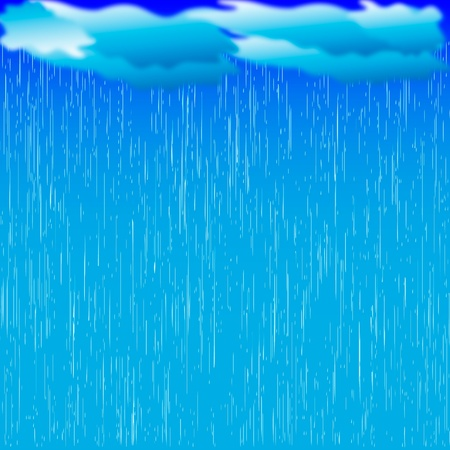 Rain. image with dark clouds in wet day Vector