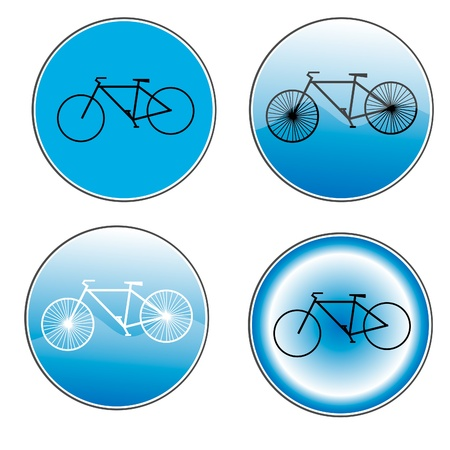 Variants a Bicycle road sign Vector