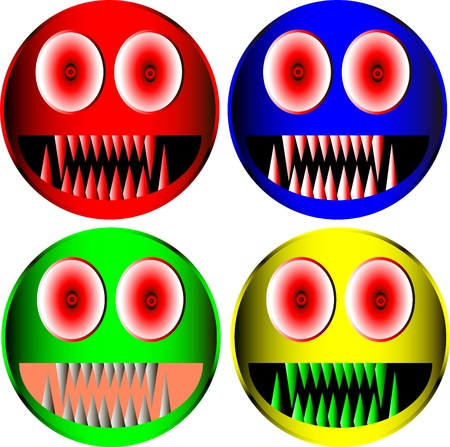 Set of monster icons Stock Vector - 9917317