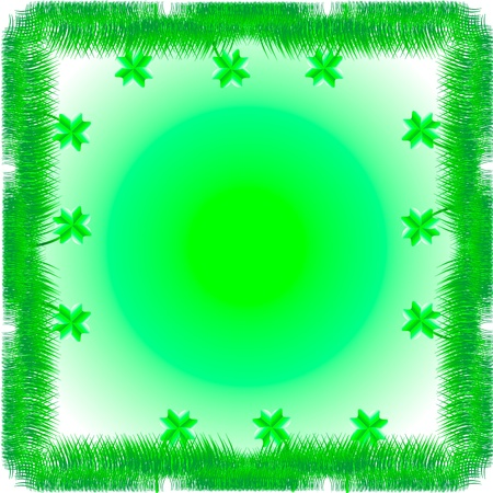 Green background with grass and clover and place for text