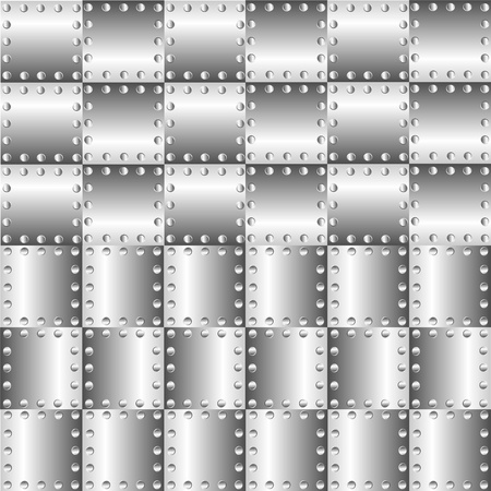 A metal background with rivets Stock Vector - 9935532