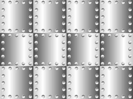 A metal background with rivets Stock Vector - 9935531