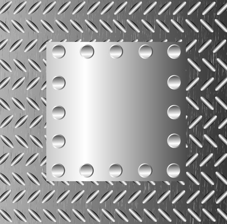 A metal background with rivets Stock Vector - 9935534