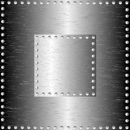 silver texture: A metal background with rivets Illustration