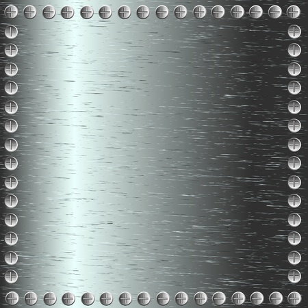 A metal background with rivets Stock Vector - 9935535