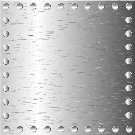 A metal background with rivets Stock Vector - 9935533