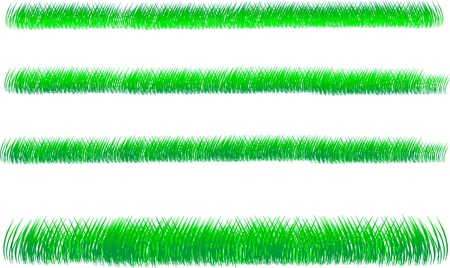 3 backgrounds of green grass on white background Stock Vector - 10034429