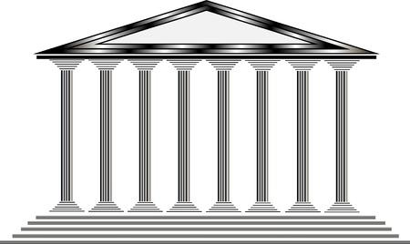 Griechischen Tempel auf weißem Hintergrund - Illustration für Design