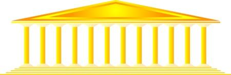 Greek temple on white background -  illustration for design Vector