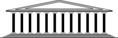 Greek temple on white background -  illustration for design Stock Vector - 10136208
