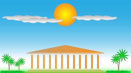 Templo griego - ilustraci�n para el dise�o. D�a Foto de archivo - 10136221