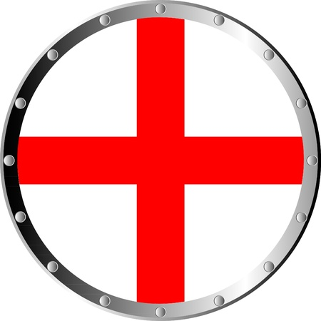 Round shield isolated on white background . Vector