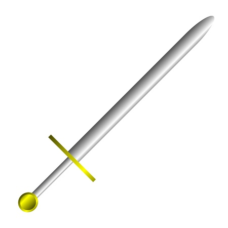 cavalry: Steel sword on a white background. Illustration