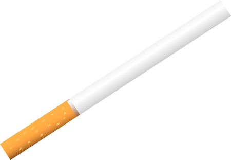 Illustrated cigarette isolated on white background . Stock Vector - 10195722