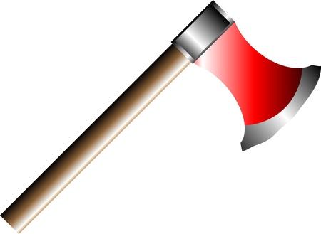 cutting blade: Hacha aislada sobre fondo blanco - vector Vectores
