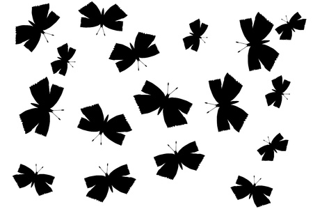 Butterflies silhouette on white background - vector Stock Vector - 10228777