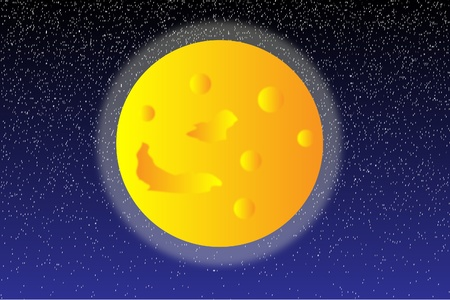 astral: Background with moon on the night sky Illustration