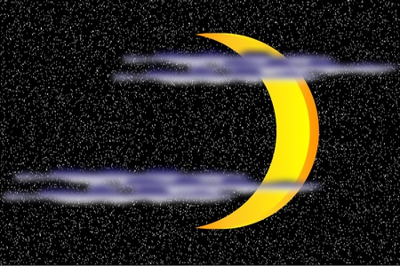 Background with moon on the night sky Stock Vector - 10253883