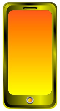 Mobile phone isolated on white background - vector Vector