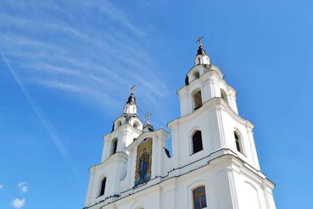 View of the christian cathedral in Minsk, Belarus photo
