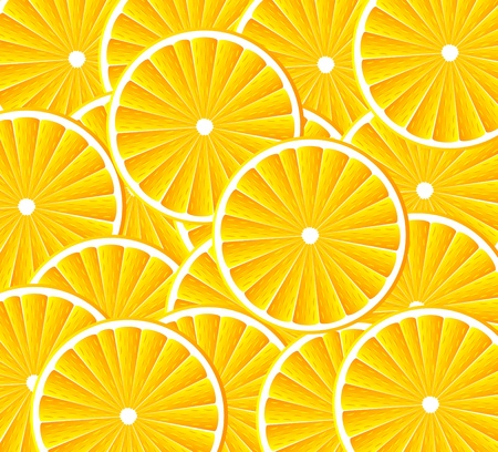 Abstract background with citrus-fruit of orange slices. Vector