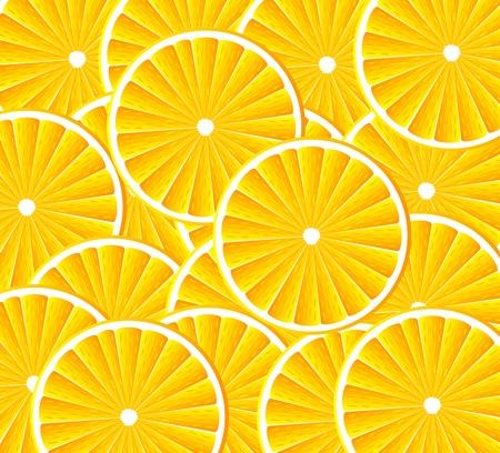 Abstracte achtergrond met citrus-vruchten van de sinaasappel. Stock Illustratie