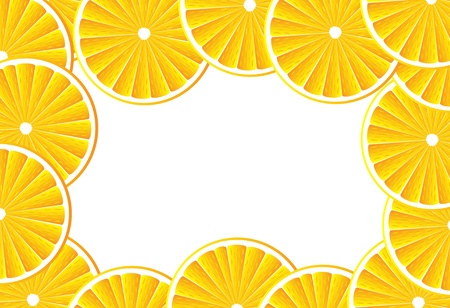 Background with slices orange  . Vector illustration. Vector
