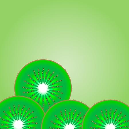 fruttosio: Sfondo di kiwi - illustrazione vettoriale.