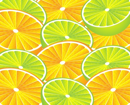 Orange and lemon background . Vector illustration Vector