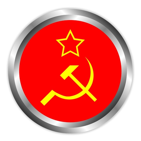 Soviet union flag icon or button . Vector