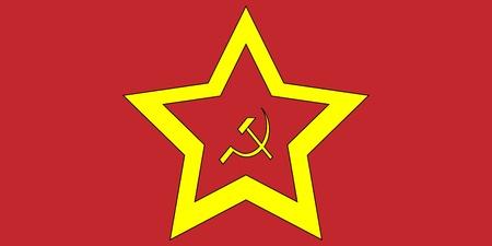 Soviet flag Stock Vector - 10629633