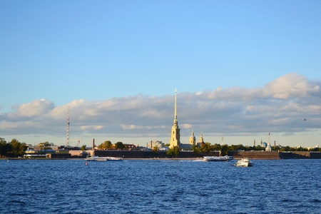 View of St. Petersburg, Russia. Peter and Paul Fortress photo